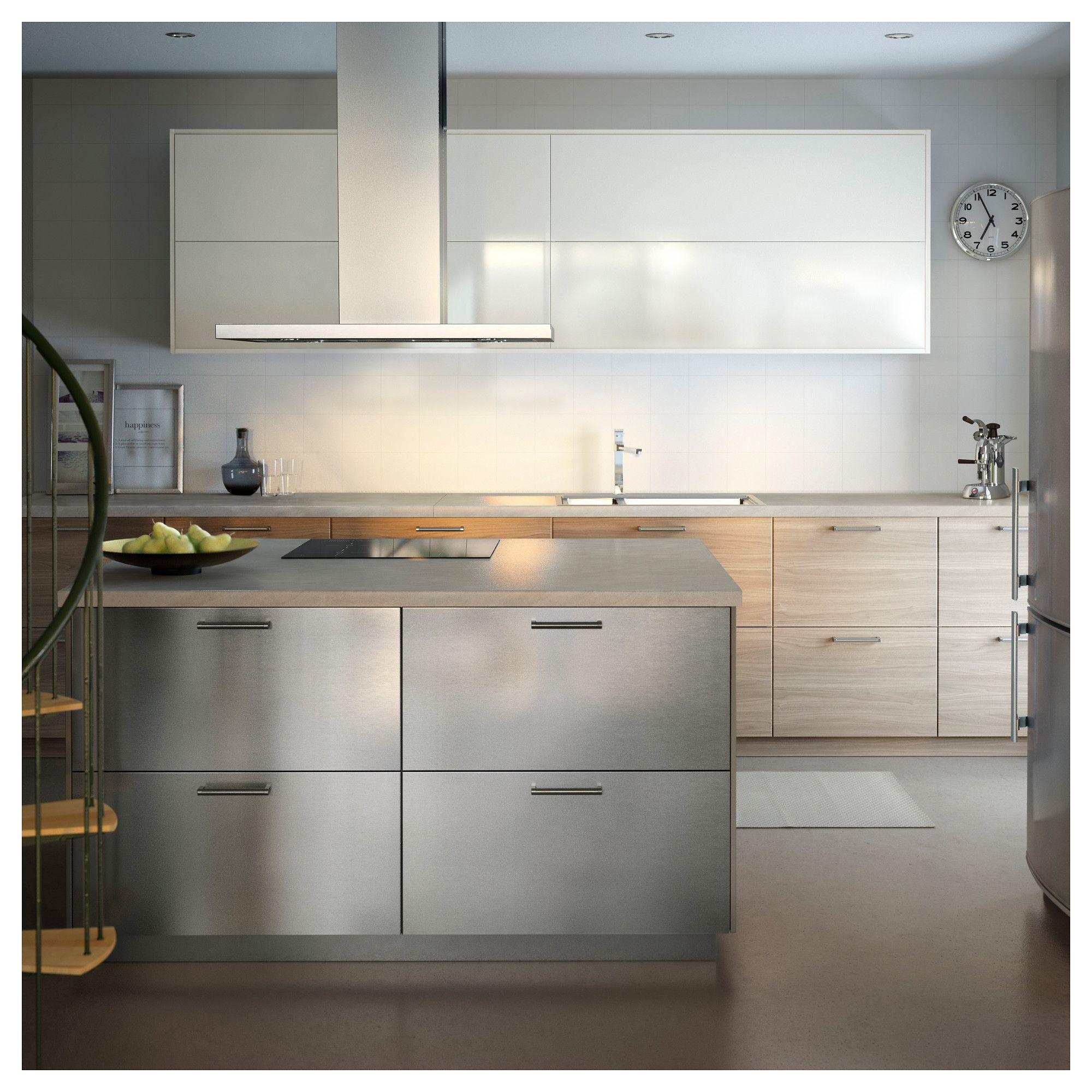 GREVSTA Door Stainless steel 40x80 cm