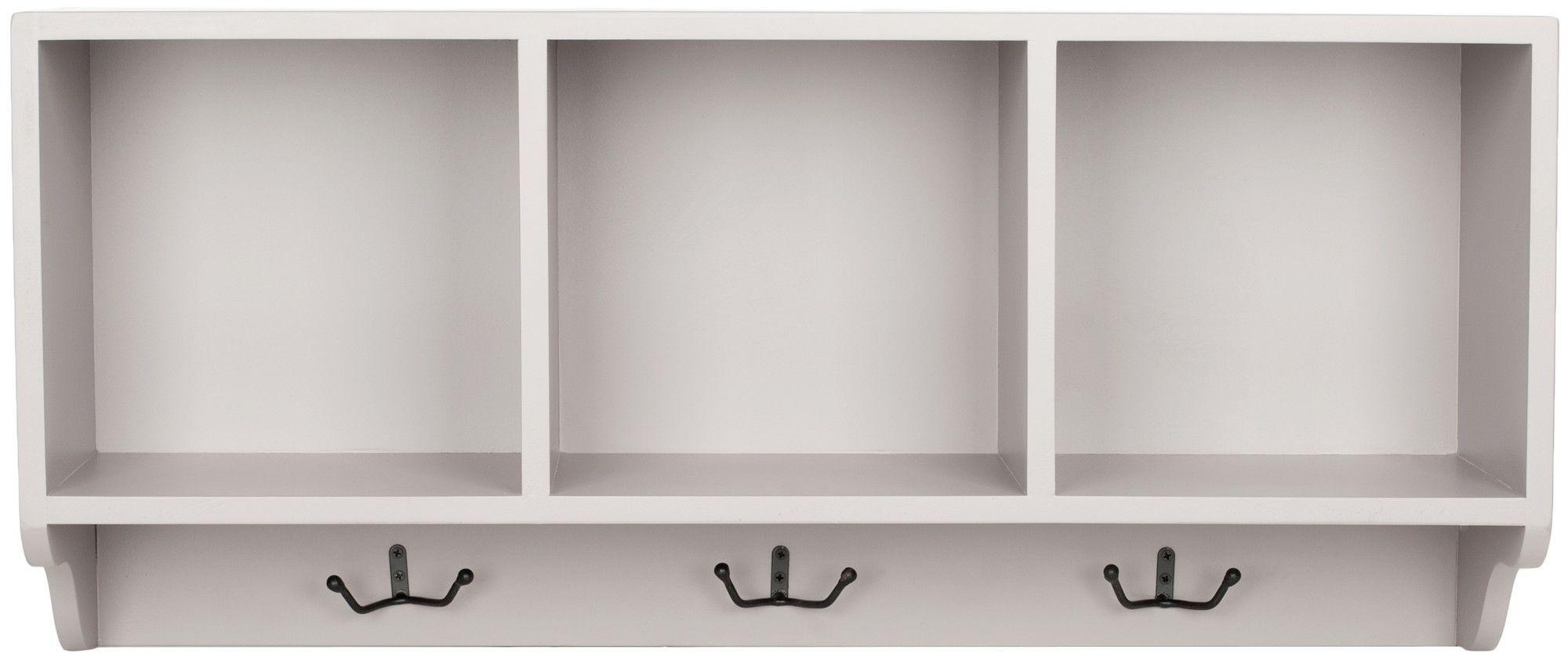 Wall Shelf & 3 Hook Wall Coat Rack