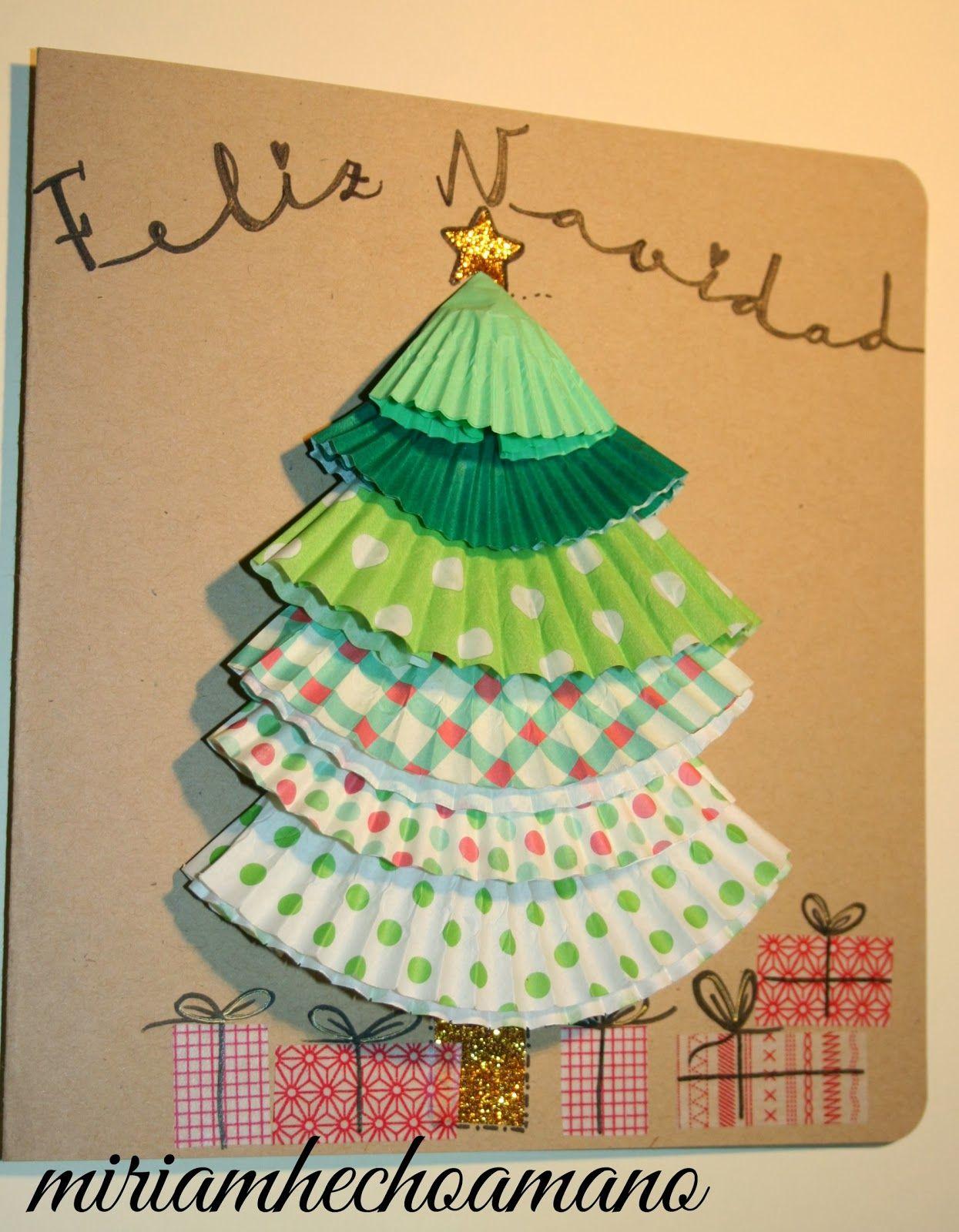 Postales de navidad postales de navidad pinterest - Manualidades tarjeta navidena ...