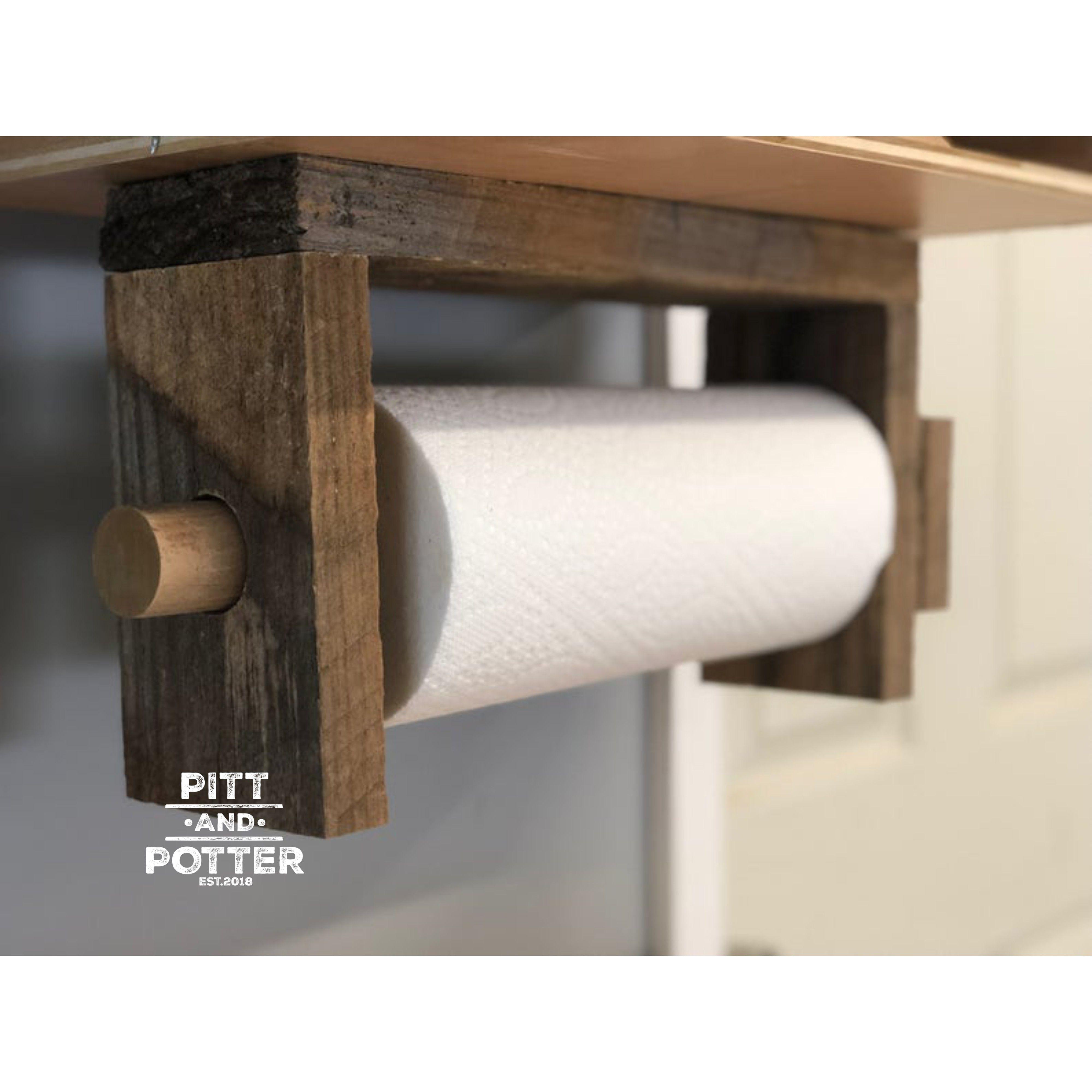 Paper Towel Holder Paper Towel Stand Under Cabinet Paper Etsy In 2020 Wooden Paper Towel Holder Rustic Paper Towel Holders Rustic Paper