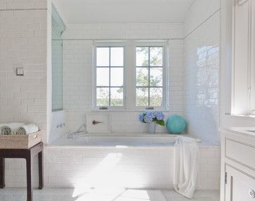 75 The Average Dollar Cost Of Tempering A Bathroom Window If Required By Code Most B Bathroom Tile Designs White Bathroom Designs White Subway Tile Bathroom