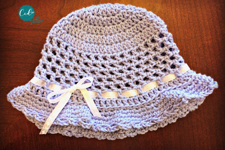 Crochet Toddler Sun Hat Photo Tutorial   Crochet summer hats ...