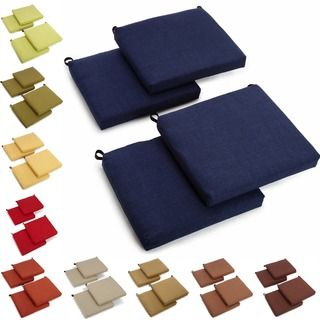 Blazing Needles All Weather UV Resistant Outdoor Chair Cushions (Set Of 4)