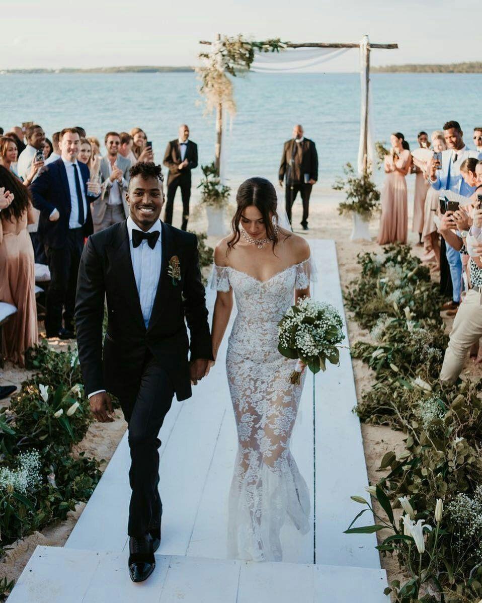 Shanina Shaik Wedding Bridal Strapless Lace Wedding Dress
