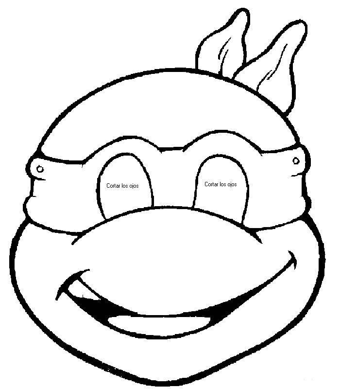 Resultado De Imagen Para Mascara De Tortuga Para Imprimir Fiesta Tortugas Ninja Pastelitos De Tortugas Ninjas Tortugas Ninjas