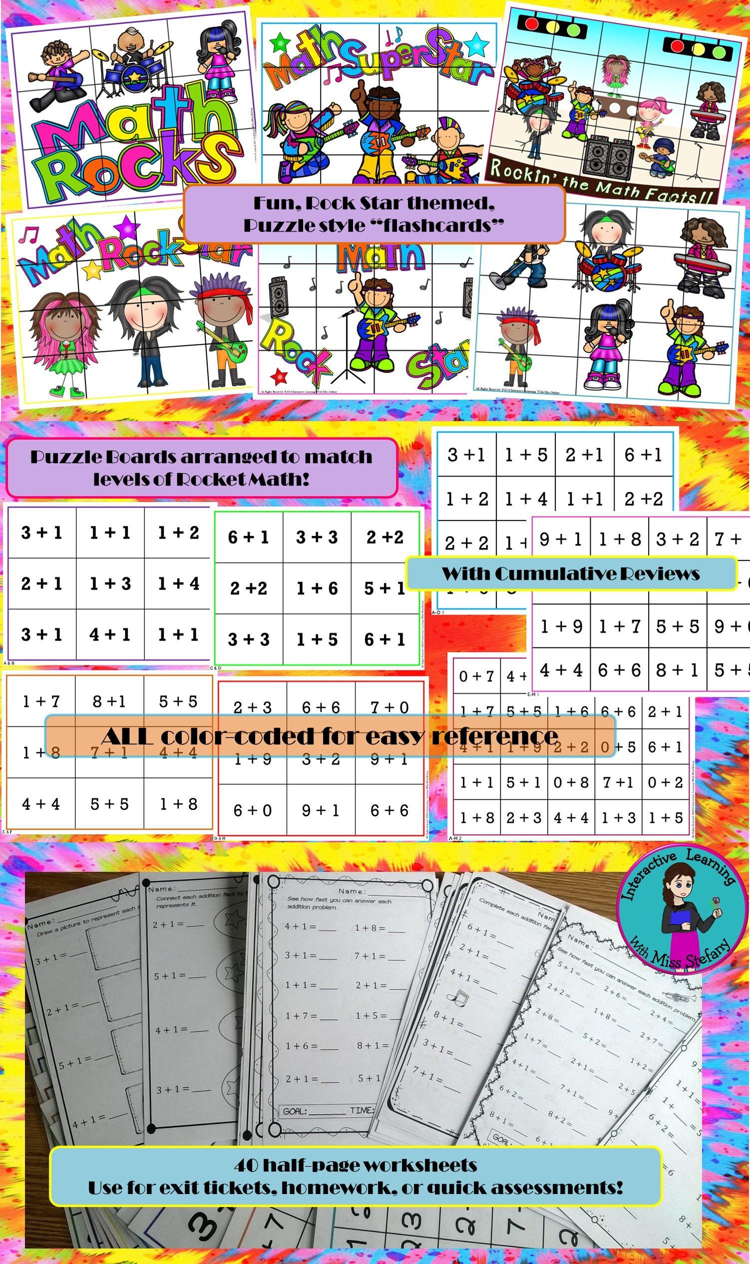 Mental Math Addition Match Up Puzzles 1