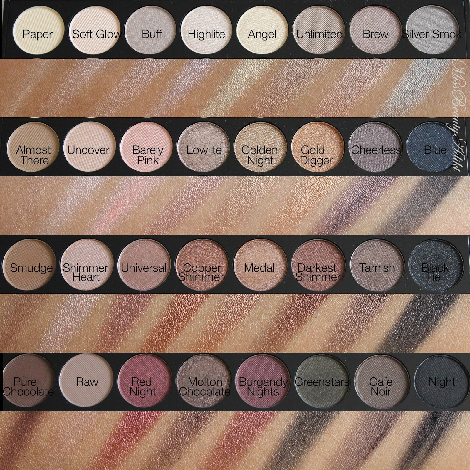 M I S S B E A U T Y A D I K T: Makeup Revolution Ultra 32 Eyeshadow Palette in Flawless Review + Swatches