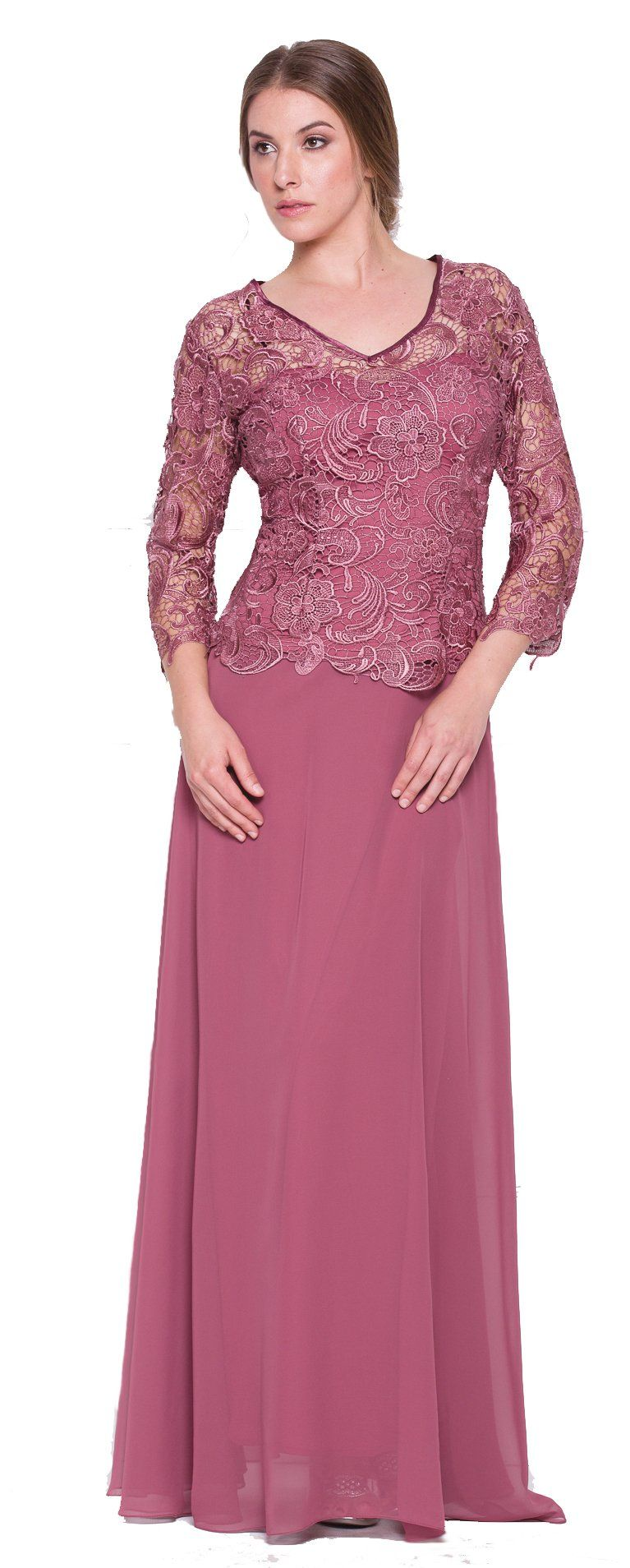 Mother of the Bride Formal Gown 5040NX-ROSEWOOD-M   evenining dress ...