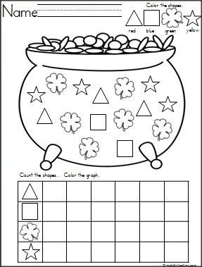 This is a Pot of Gold and Clovers shapes graph available on ...