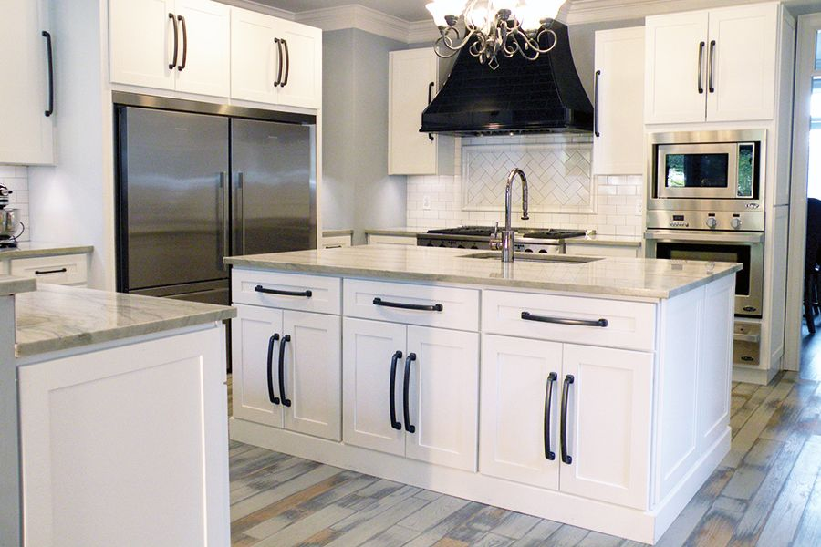 heritage white shaker cabinets from surplus warehouse 117linear foot lots of options - How To Calculate Linear Feet For Kitchen Cabinets