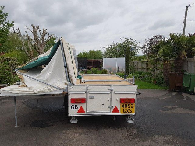 Pennine Aztec 2001 Folding Camper with Awning - Great ...