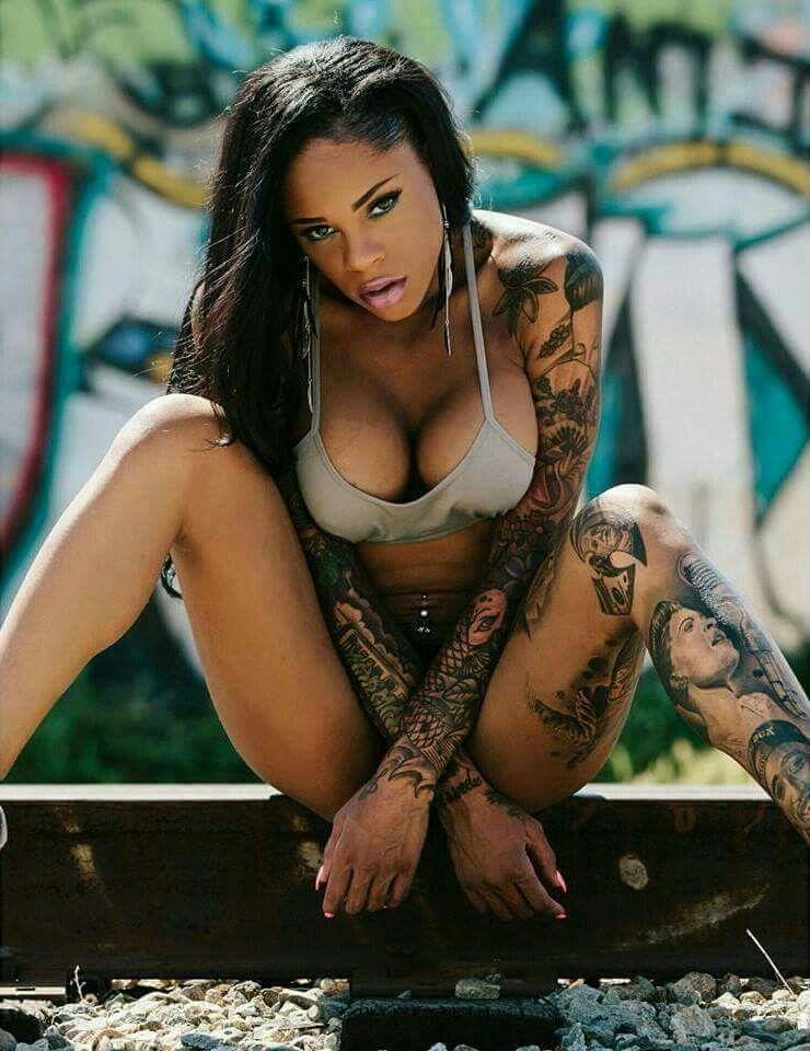 sexy Big tattoos tit women