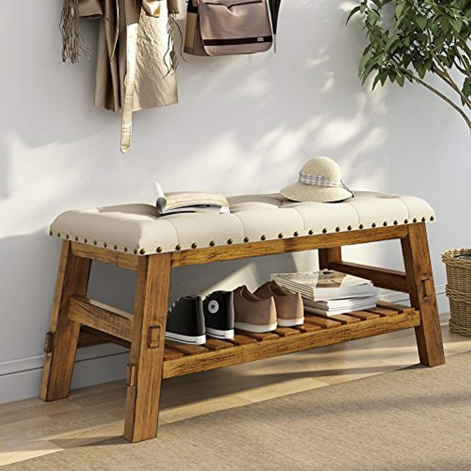 Pleasant 40 Entryway Storage Bench Little Tree Shoe Bed Bench With Ncnpc Chair Design For Home Ncnpcorg