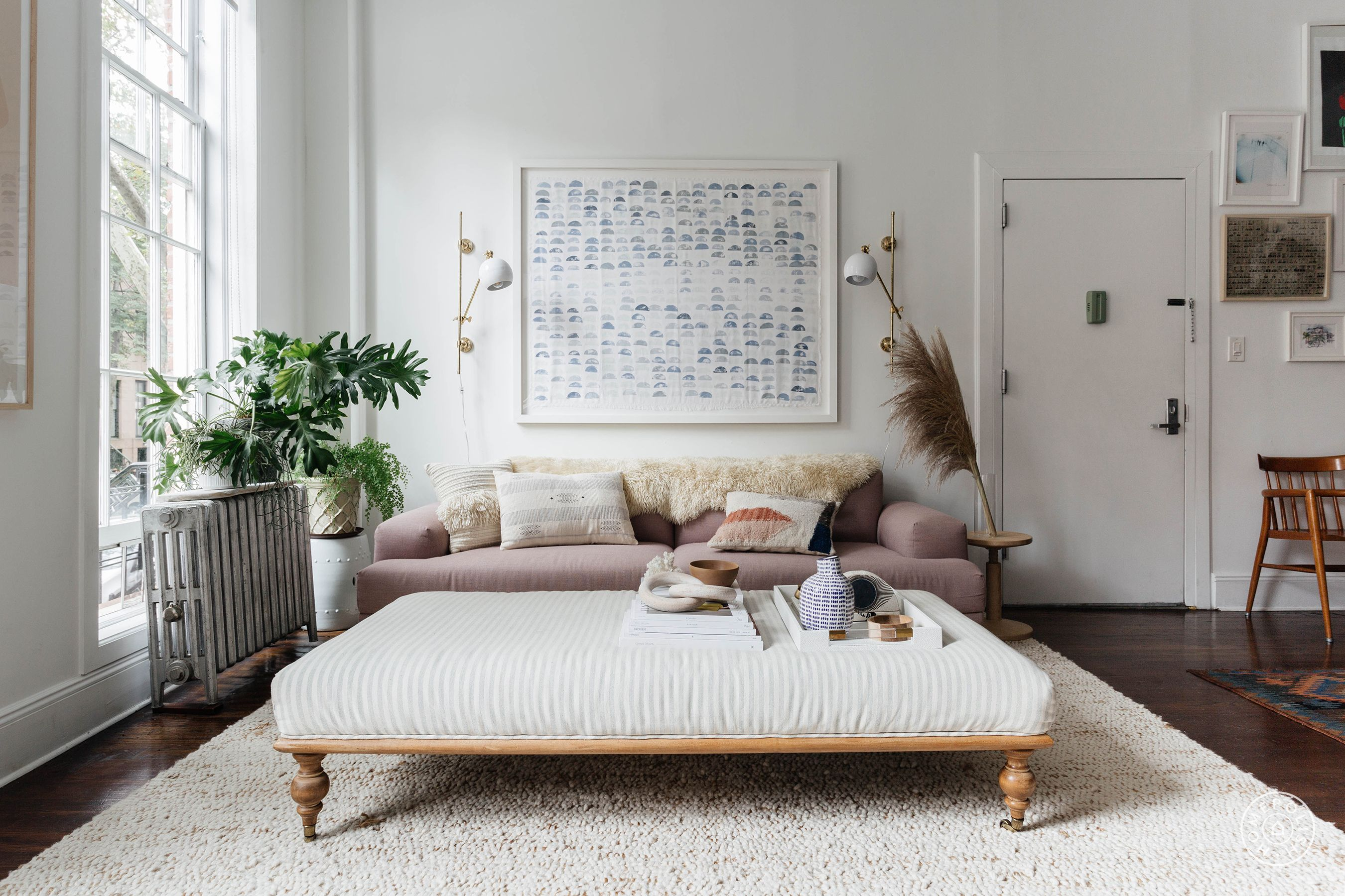 Local Bed Shops Modern Femininity In Clinton Hill Living Rooms Pinterest