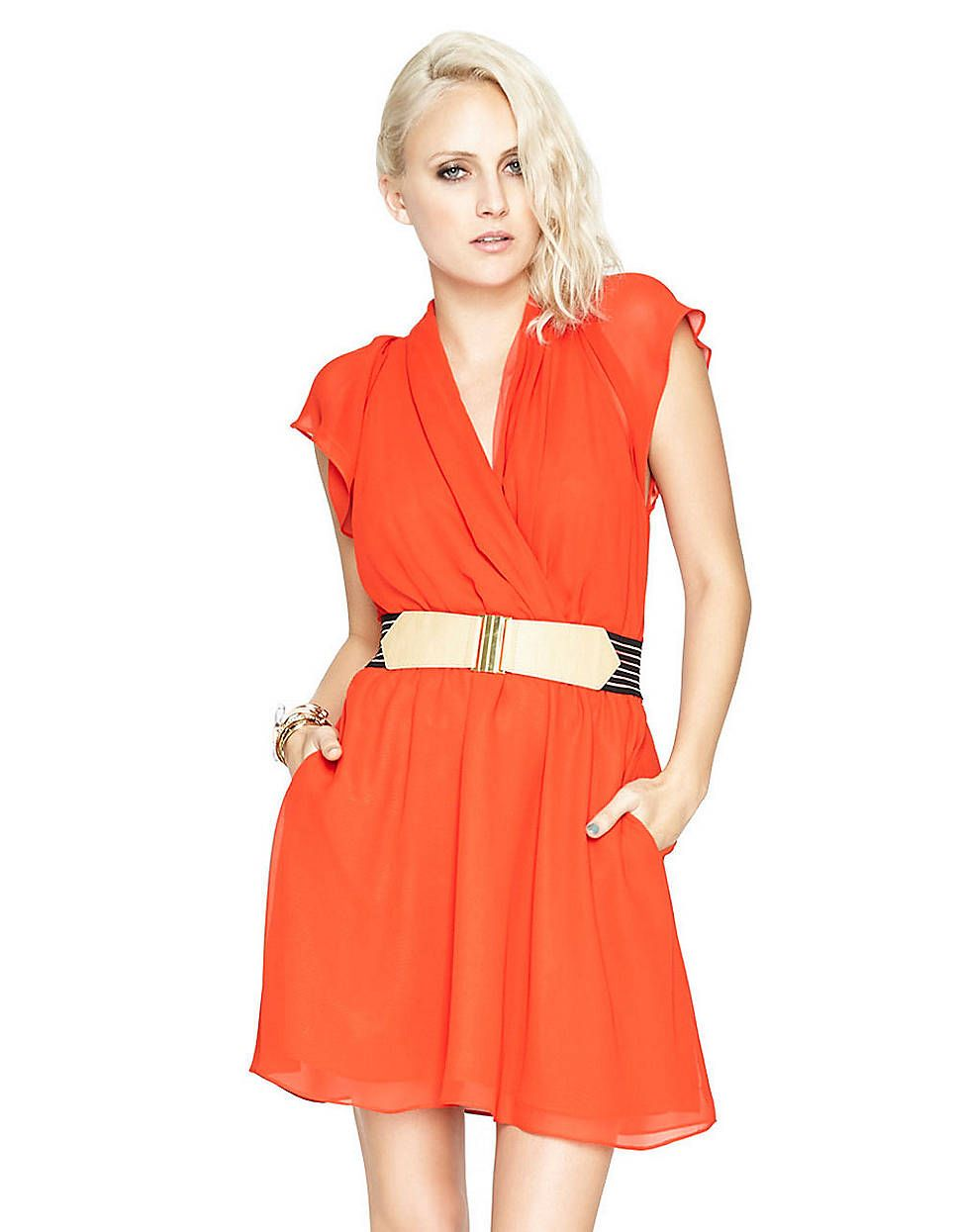 Flutter-Sleeve Dress | Lord and Taylor