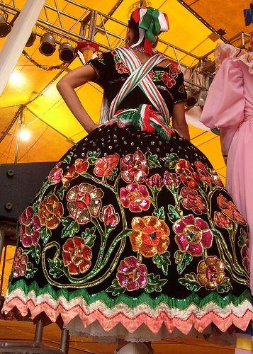 China Poblana Skirt Vestidos Tipicos De Mexico China