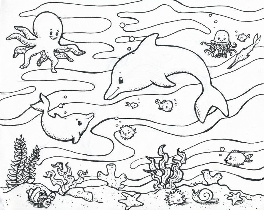 Sea Life Coloring Pages Fish Coloring Page Animal Coloring