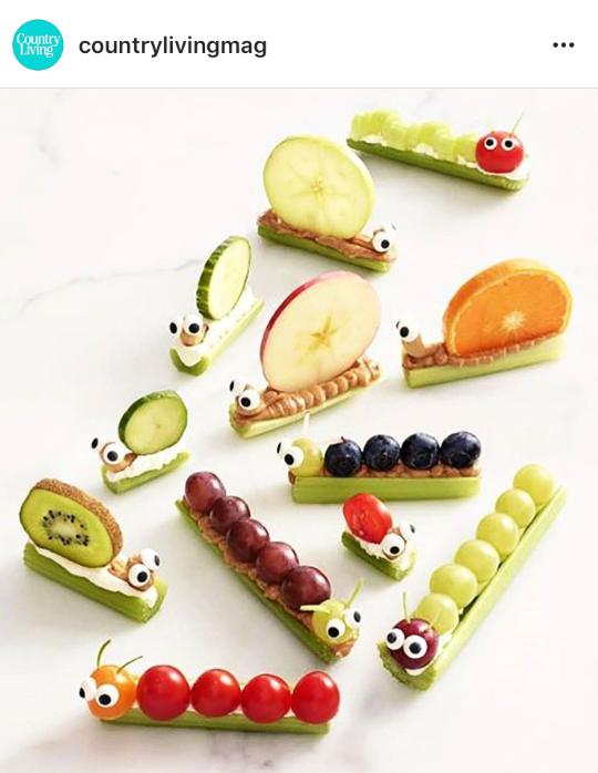 fun healthy buggy snacks