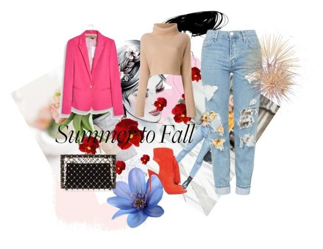 """""""Summer ---> Fall"""" by oneofthedirectioners ❤ liked on Polyvore featuring Topshop, WithChic, Christian Louboutin, Charlotte Olympia and layers"""
