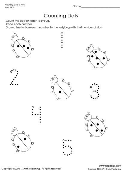 Counting Dots To 5 Kindergarten Worksheets Kindergarten Worksheets Printable Kindergarten Spring Math Worksheets