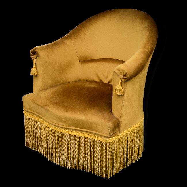 Fauteuil Jaune Vintage fauteuil crapaud en velours jaune vintage | design d'intérieur de la