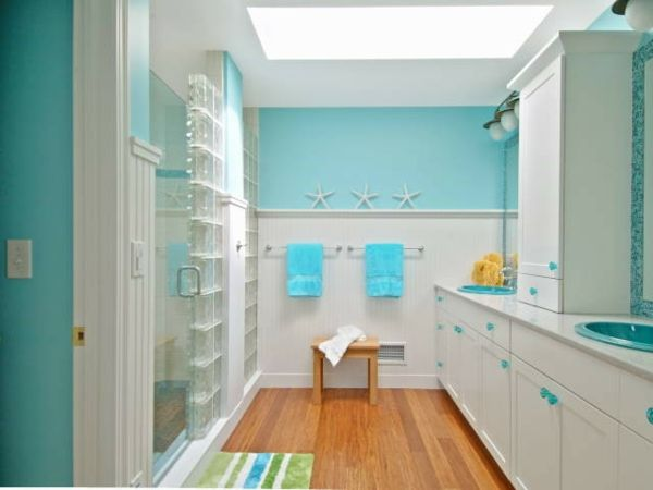 glasbausteine für dusche helles bad