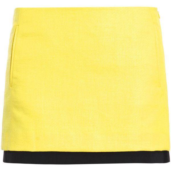 Diane von furstenberg skirts YELLOW (3.150 NOK) ❤ liked on Polyvore