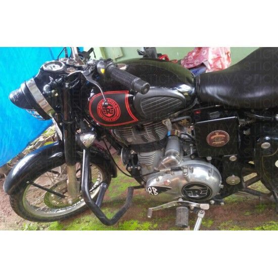 The Fuel Tank Sticker Is Suitable For Application On All Royal - Classic motorcycle custom stickers