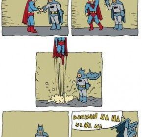 funny superman vs batman pics