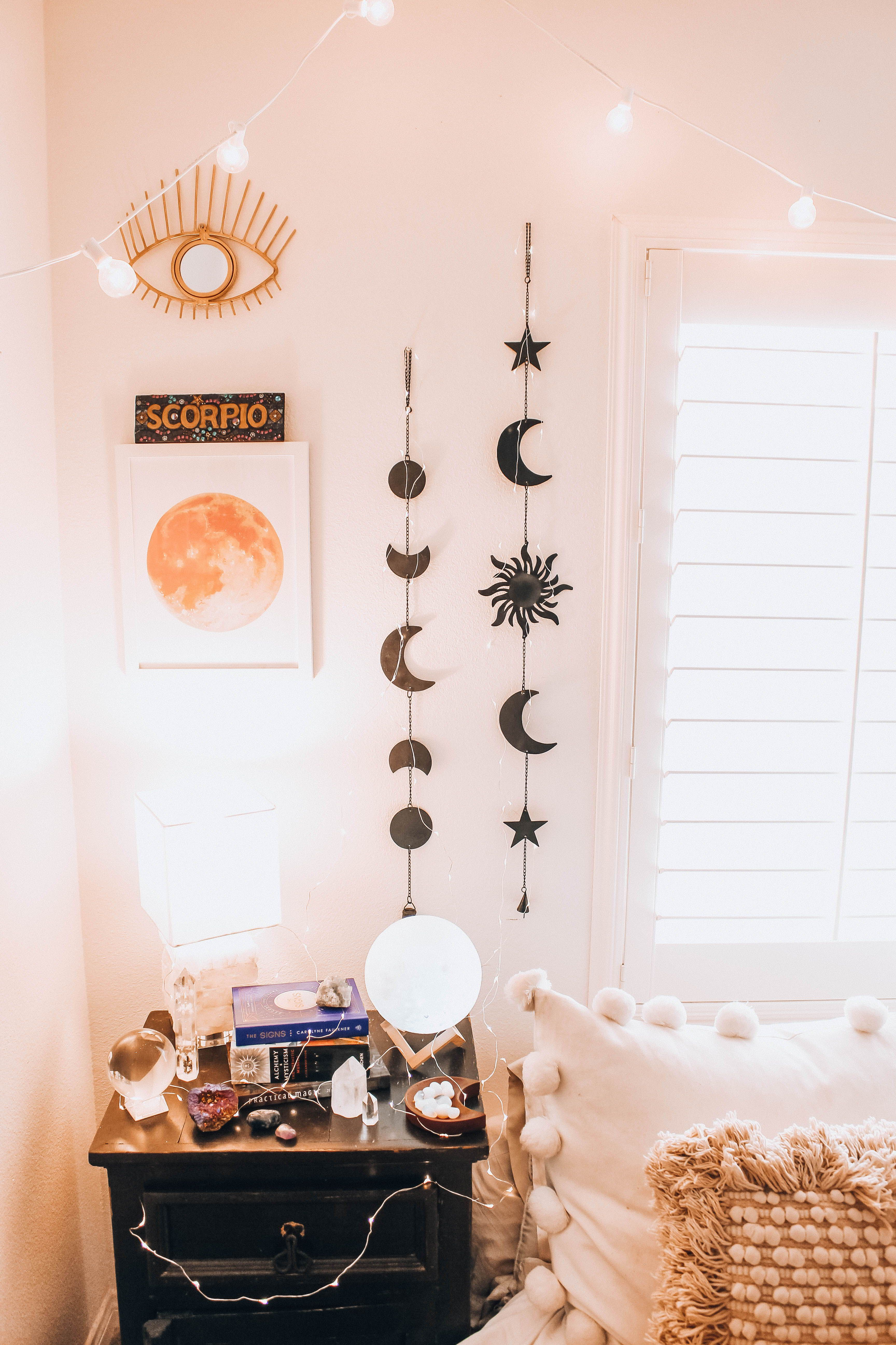 Celestial Wall Hanging | Aesthetic bedroom, Hanging wall ...