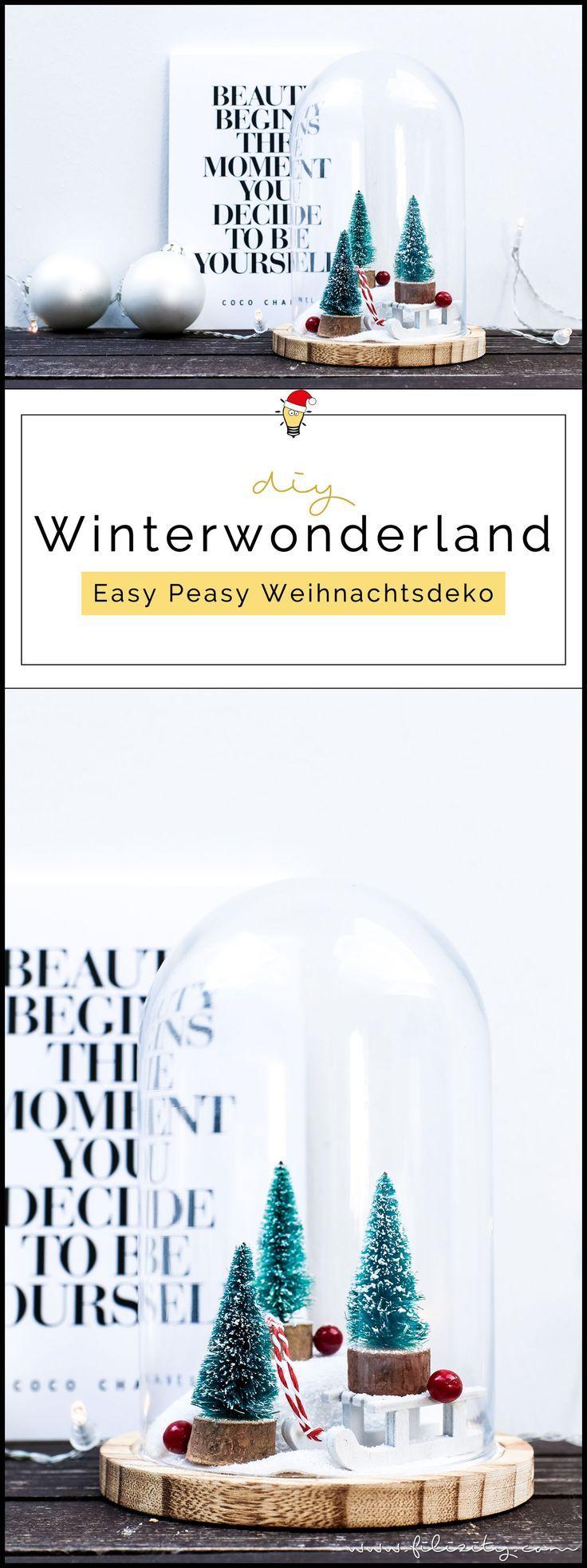 Weihnachtsdeko: Winterwonderland im Glas | Filizity.com | DIY-Blog aus dem Rheinland
