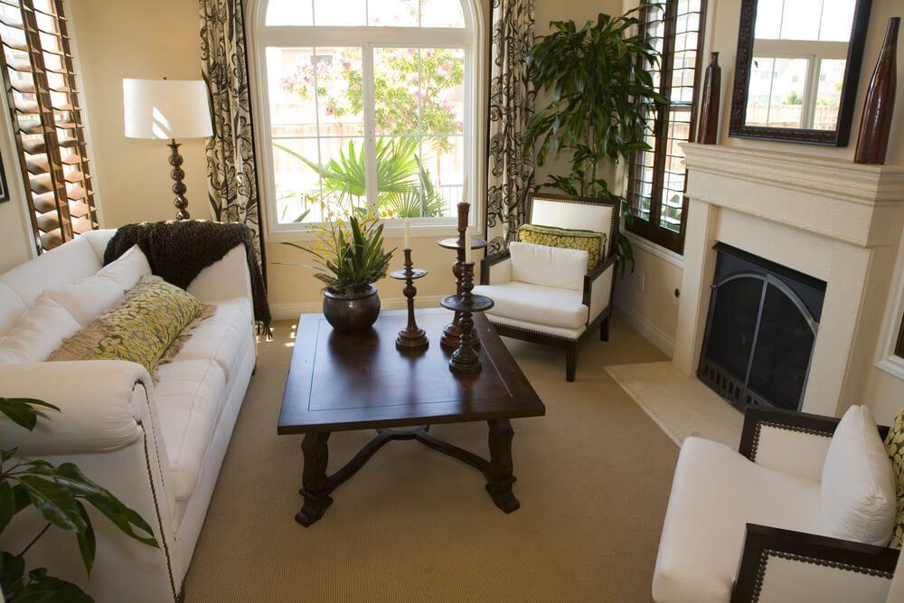 650 Formal Living Room Design Ideas For 2018  White Fireplace Fair Design Ideas For Living Rooms With Fireplace Review