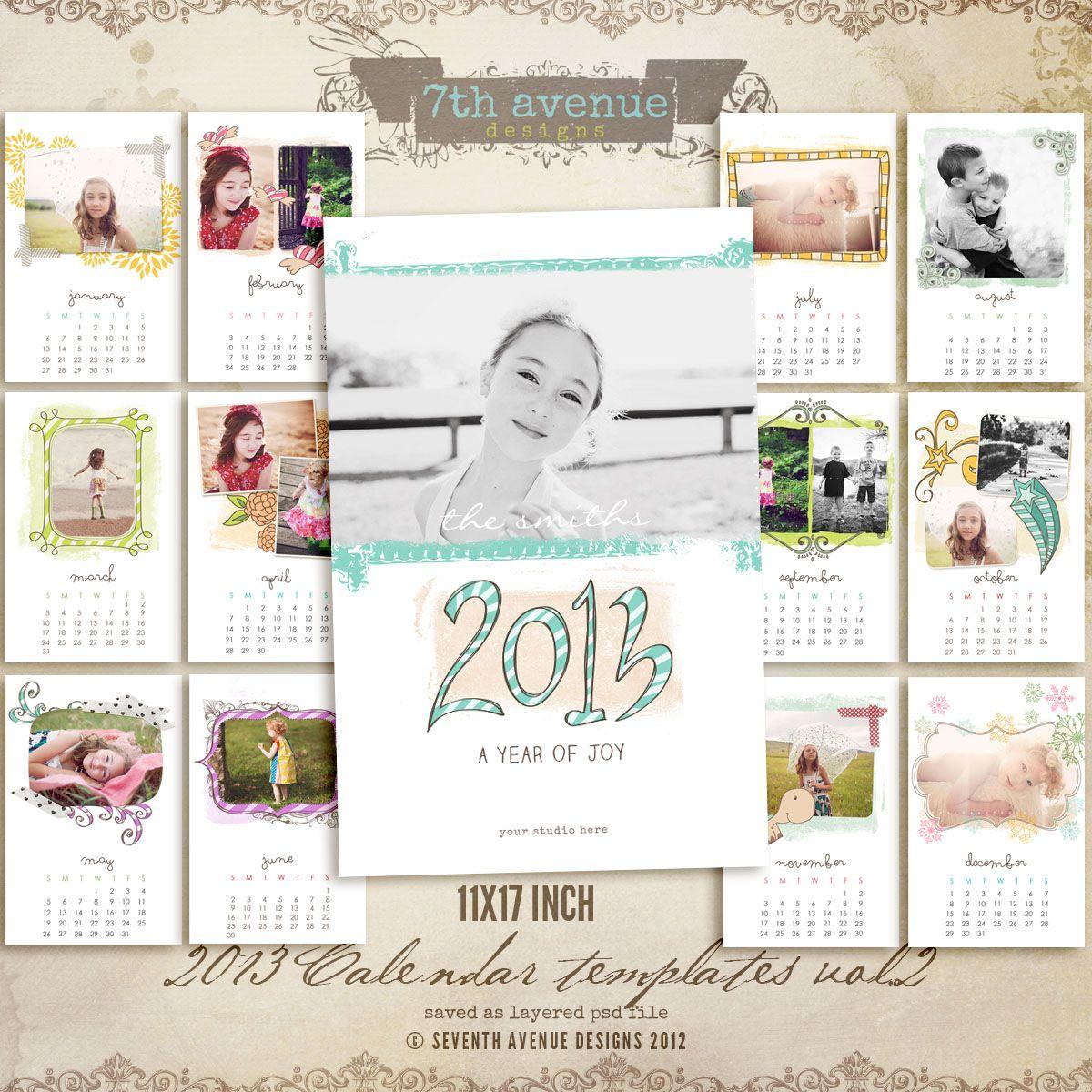 11x17 calendar template 2013.
