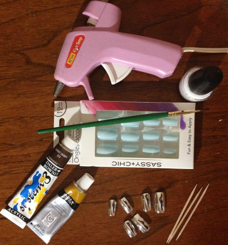 How to make teeth with fake nails | Fake nails, Fake teeth ...