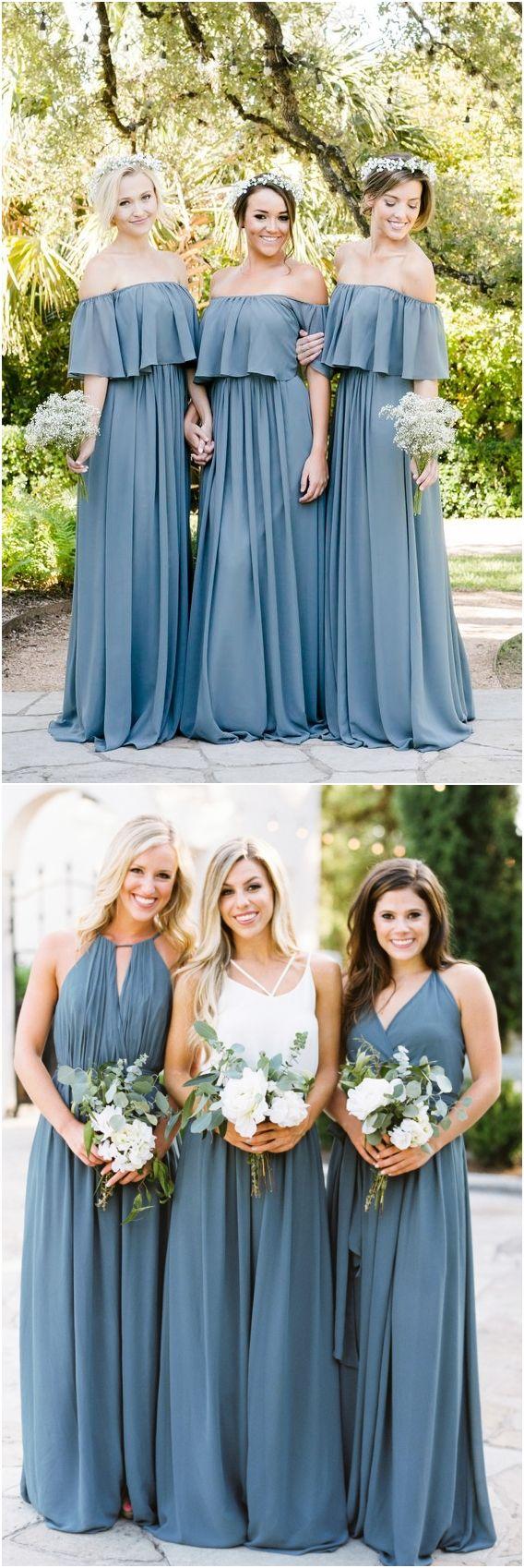 Top bridesmaid dress trends for dusty blue weddingideas