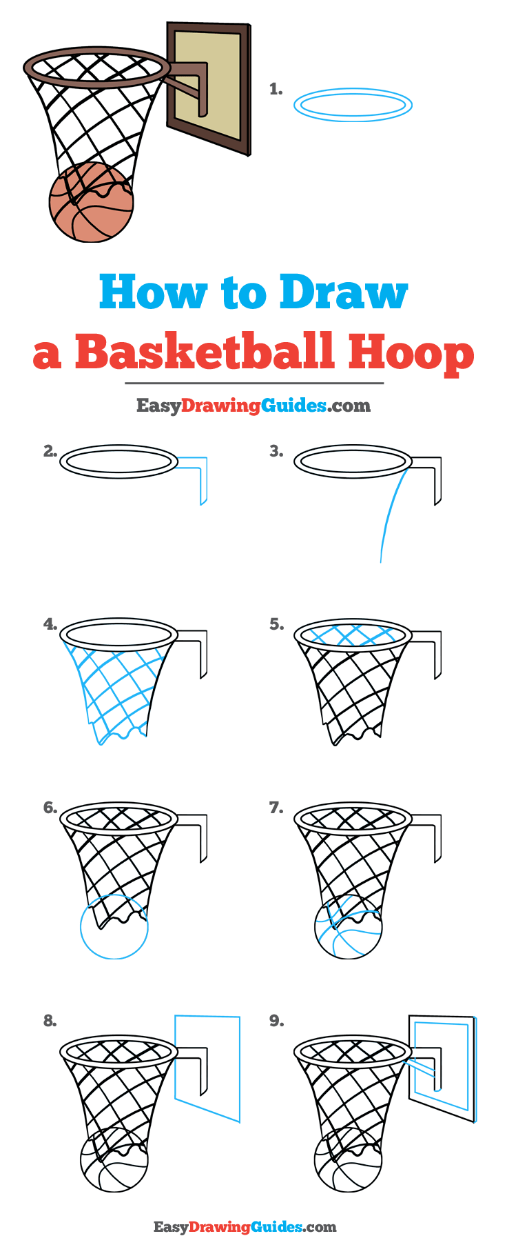 How To Draw A Basketball Hoop Really Easy Drawing Tutorial Drawing Tutorial Easy Easy Drawings Ball Drawing