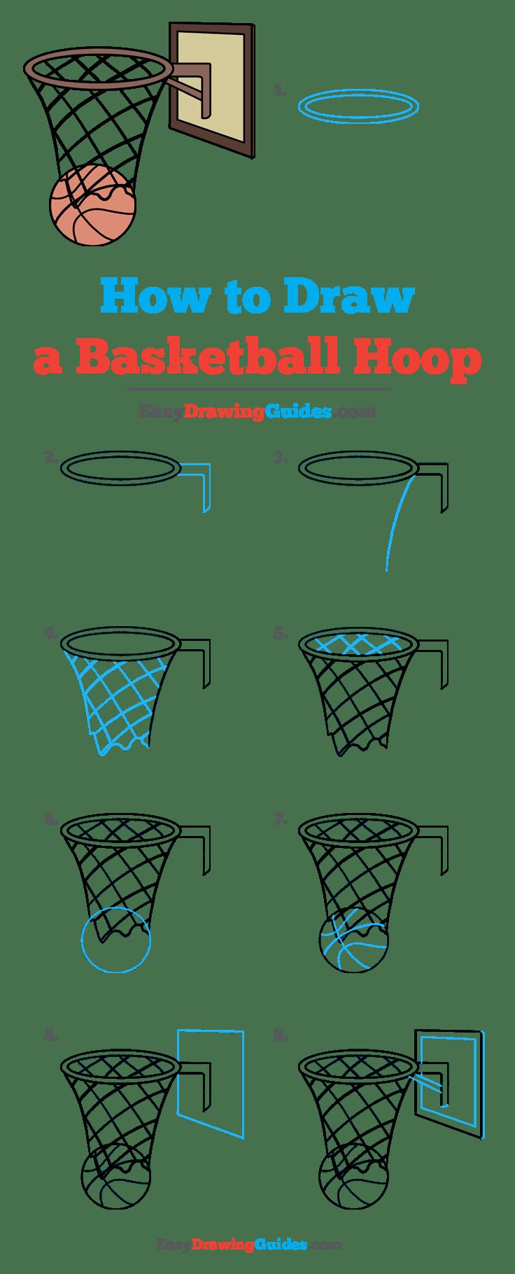 Basketball Hoop Drawing : basketball, drawing, Basketball, Really, Drawing, Tutorial, Easy,, Drawing,, Drawings