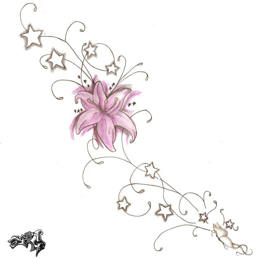Flower Tattoo Meaning Ideas Images Pictures Vine Tattoos Star Tattoos Delicate Tattoos For Women