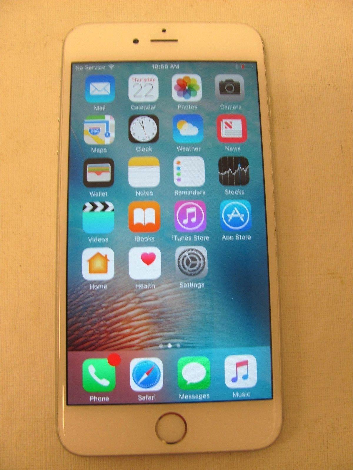 Apple iphone 6s plus latest model 16gb white silver