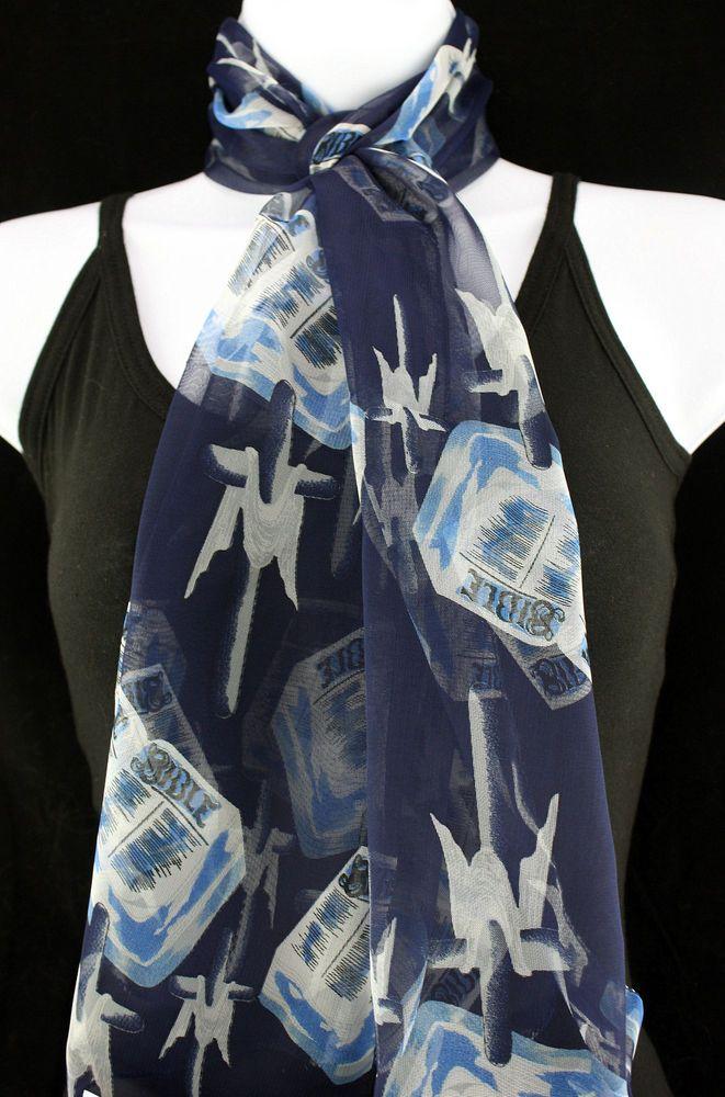 new draped cross christian religious bible gift scarfs