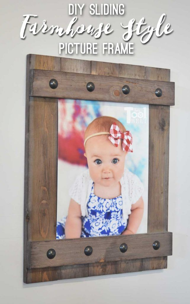 DIY Easy Farmhouse Style Frame | Farmhouse style, Woods and Crafts