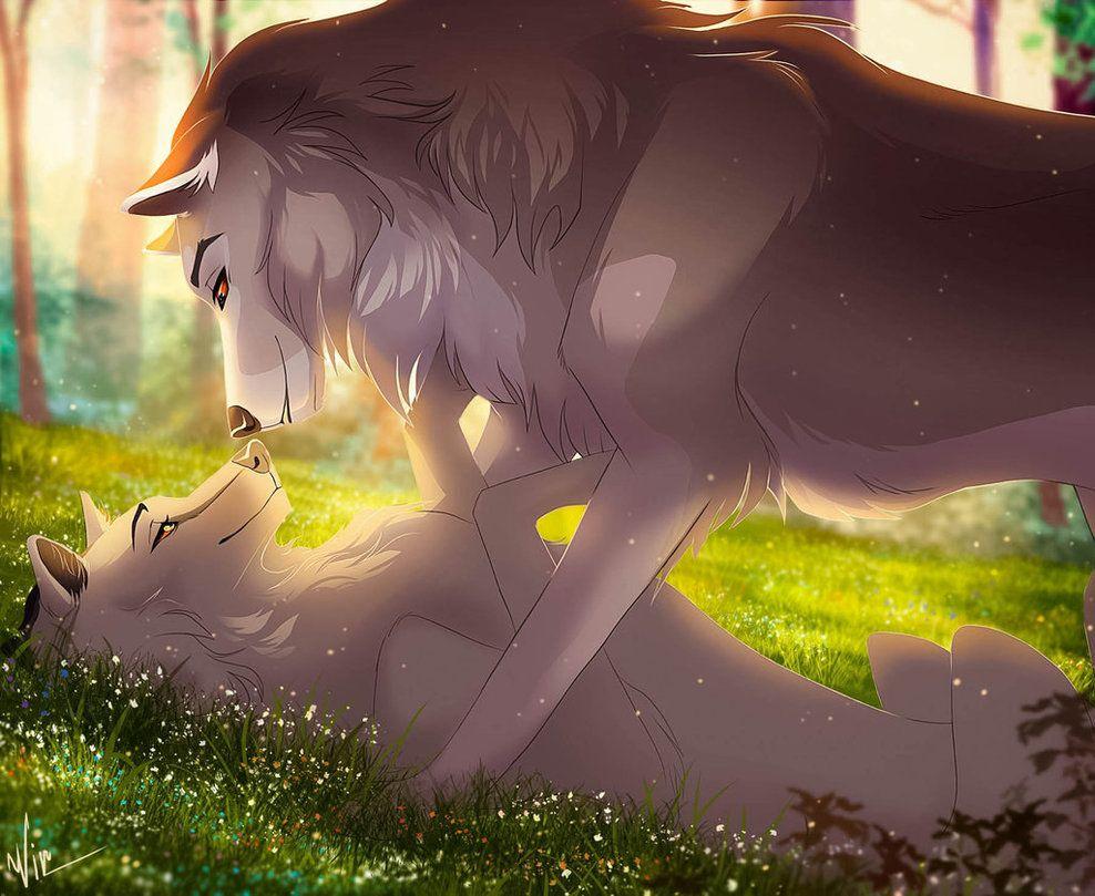 Волки арт аниме картинки