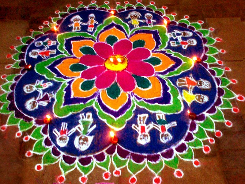 Floor Paintings Rangoli From Unbelievable Art Asia Educational