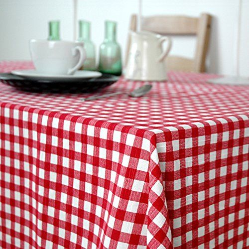 Cotton Red And White Plaid Table Cloth Fabric/ Table/ Garden Restaurant  Tablecloths A
