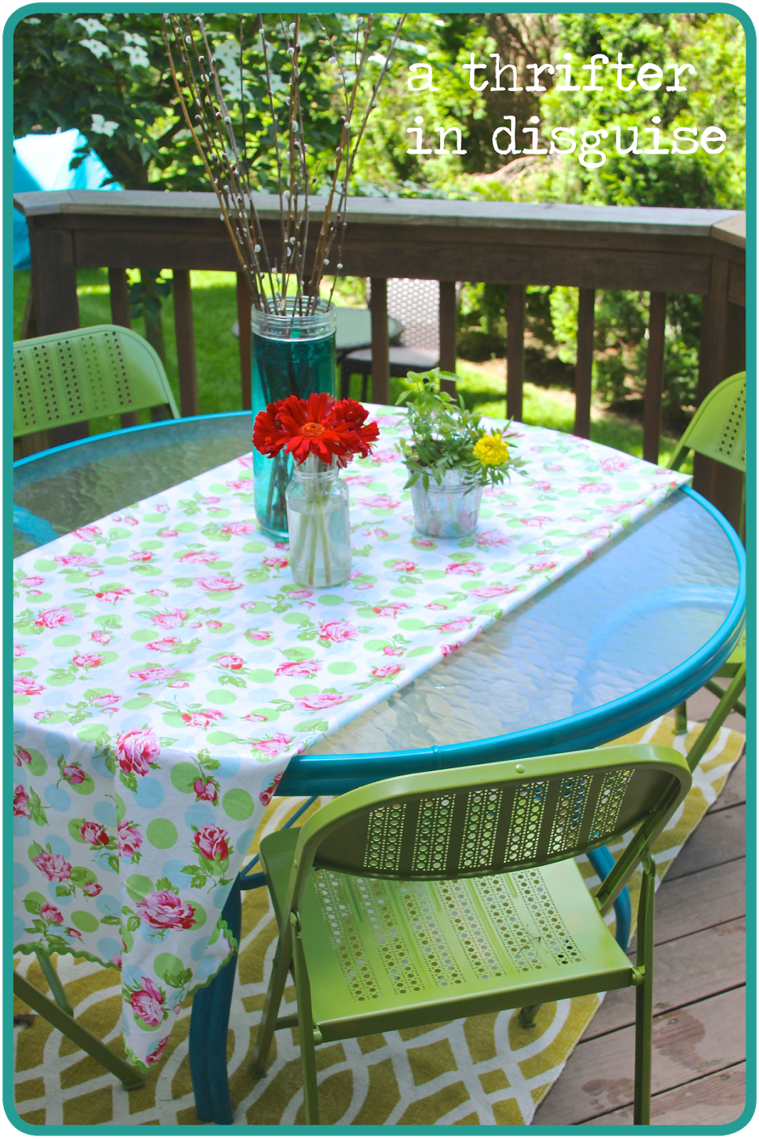 painting a garden table - Google Search