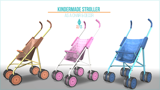 The Best Chair Deco Stroller By Leo Sims Sims 4 Kinder Wagen Sims 4 Kleinkind