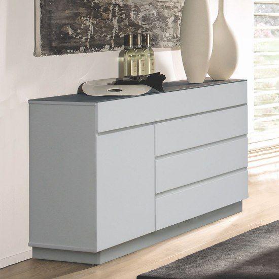 Modern White Mission Sideboard Ontana Wht Decor Designs