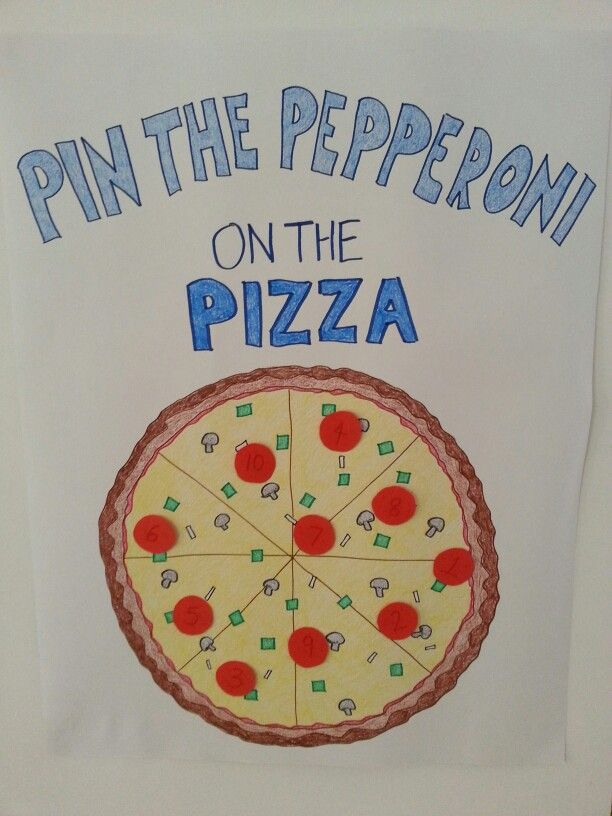 Pin the pepperoni on the pizza game. Tmnt party theme.