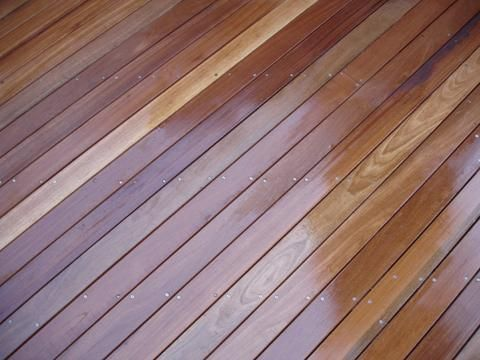 Smooth balau decking wooden landscape timber design for Smooth hardwood decking boards