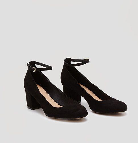Ankle strap block heel